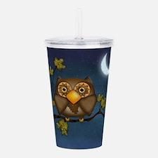 Fall Hoot Owl Acrylic Double-wall Tumbler
