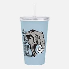 Save Elephants Acrylic Double-wall Tumbler