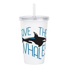 Save the Whales Acrylic Double-wall Tumbler