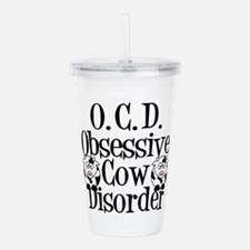 Obsessive Cow Disorder Acrylic Double-wall Tumbler