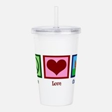 Peace Love Chickens Acrylic Double-wall Tumbler