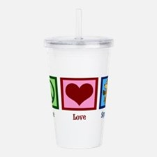 Peace Love Squirrels Acrylic Double-wall Tumbler