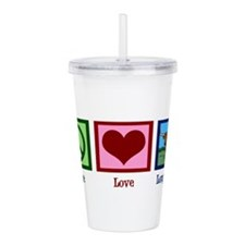 Peace Love Longhorns Acrylic Double-wall Tumbler