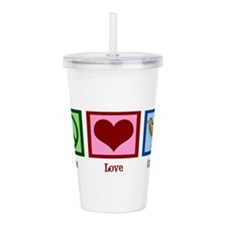 Peace Love Camels Acrylic Double-wall Tumbler