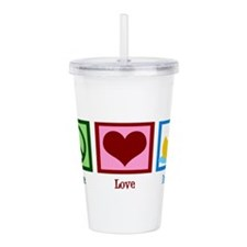 Peace Love Ducks Acrylic Double-wall Tumbler
