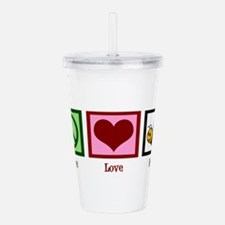 Peace Love Bees Acrylic Double-wall Tumbler