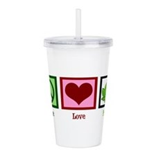 Peace Love Frogs Acrylic Double-wall Tumbler