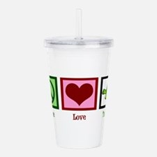 Peace Love Turtles Acrylic Double-wall Tumbler