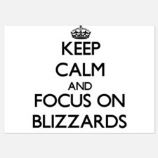 Keep Calm by focusing on Blizzards Invitations