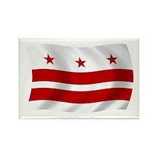 Washington DC Flag Rectangle Magnet (100 pack)