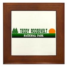 Teddy Roosevelt National Park Framed Tile