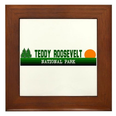 Teddy Roosevelt National Park Framed Tile