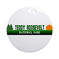 Teddy Roosevelt National Park Ornament (Round)