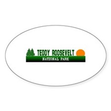 Teddy Roosevelt National Park Oval Decal
