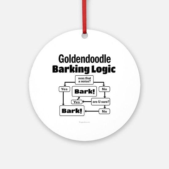 Goldendoodle Logic Ornament (Round)