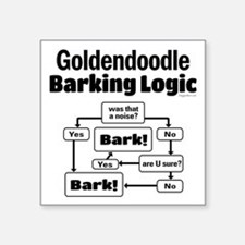 "Goldendoodle Logic Square Sticker 3"" x 3"""