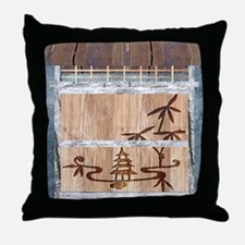 View of the Orient Throw Pillow