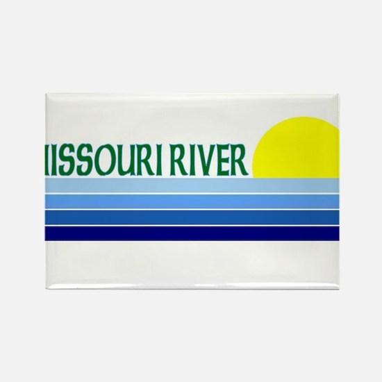 Missouri River Rectangle Magnet