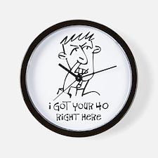40th birthday nose picker Wall Clock