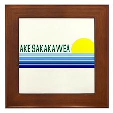Lake Sakakawea Framed Tile