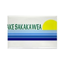 Lake Sakakawea Rectangle Magnet