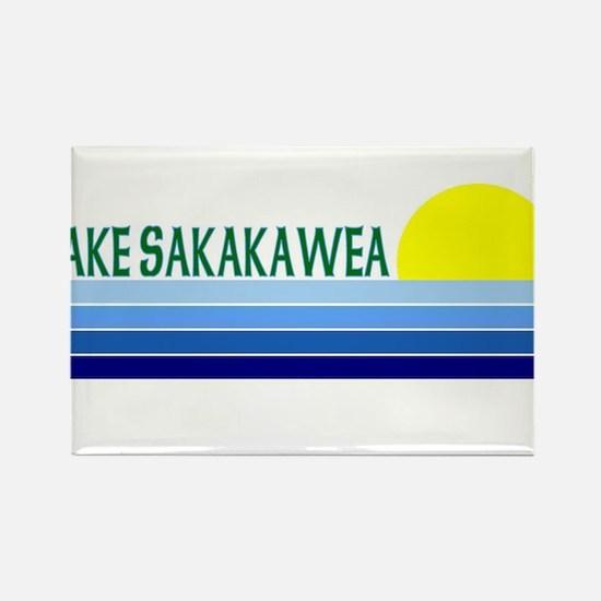 Lake Sakakawea Rectangle Magnet