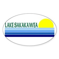 Lake Sakakawea Oval Decal