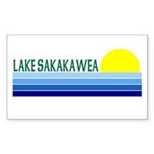 Lake Sakakawea Rectangle Decal
