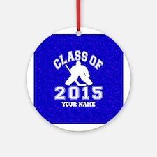 Class Of 2015 Hockey Ornament (Round)