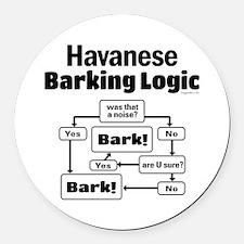 Havanese Logic Round Car Magnet