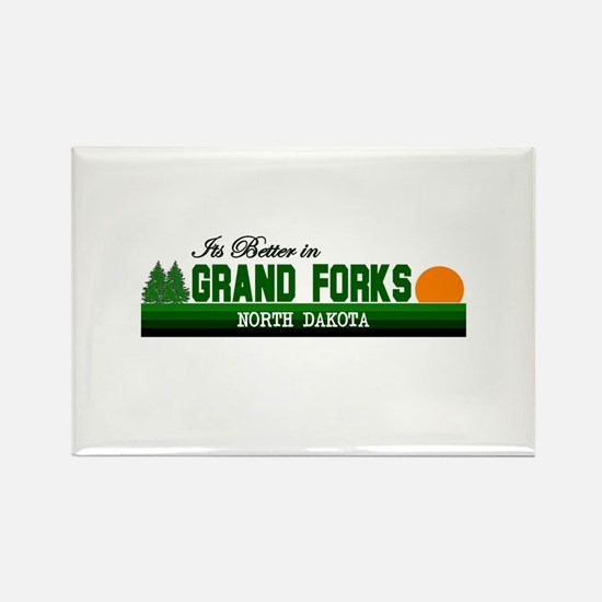 Its Better in Grand Forks, No Rectangle Magnet