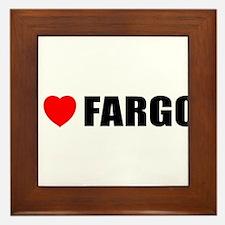 I Love Fargo Framed Tile