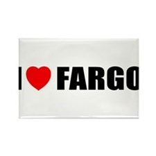 I Love Fargo Rectangle Magnet