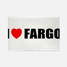 I Love Fargo Rectangle Magnet