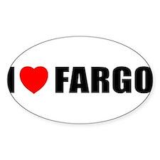 I Love Fargo Oval Decal
