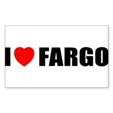 I Love Fargo Rectangle Decal
