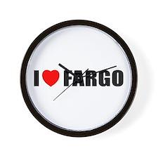 I Love Fargo Wall Clock