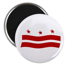 "Washington DC Flag 2 2.25"" Magnet (100 pack)"