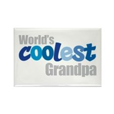 world's coolest grandpa Rectangle Magnet