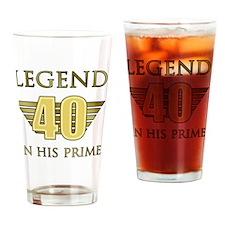 40th Birthday Legend Drinking Glass