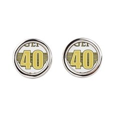 40th Birthday Legend Round Cufflinks