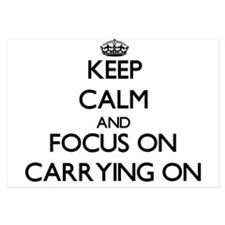 Keep Calm by focusing on Carrying On Invitations