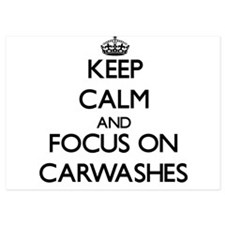 Keep Calm by focusing on Carwashes Invitations