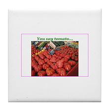 You Say Tomato... Tile Coaster