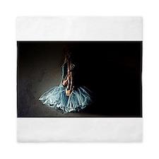 Dark Ballet Tutu Outfit with Worn Poin Queen Duvet
