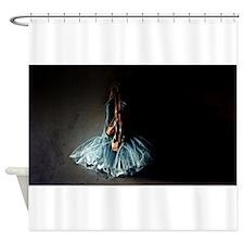Dark Ballet Tutu Outfit with Worn P Shower Curtain