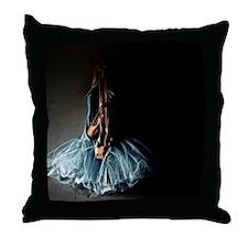 Dark Ballet Tutu Outfit with Worn Poi Throw Pillow
