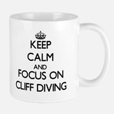 Keep Calm by focusing on Cliff Diving Mugs