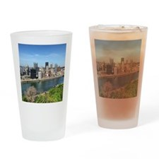 Mt. Washington view of Pittsburgh! Drinking Glass