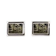 Mechanical Gears Rectangular Cufflinks